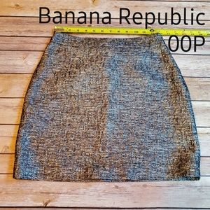 Banana Republic Mini Skirt Holiday Party Metallic